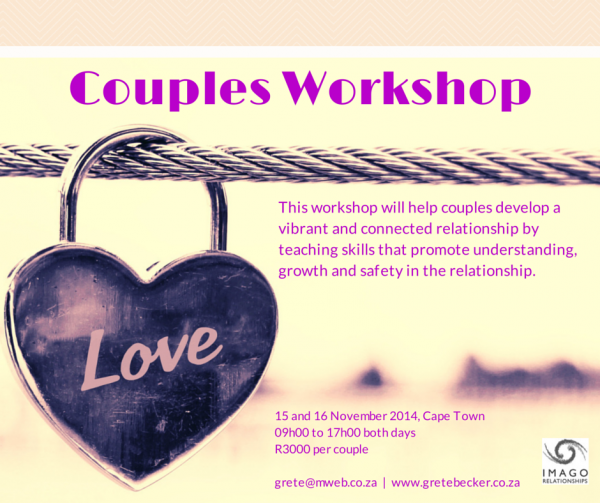 Imago Couples workshop 15 Nov 2014